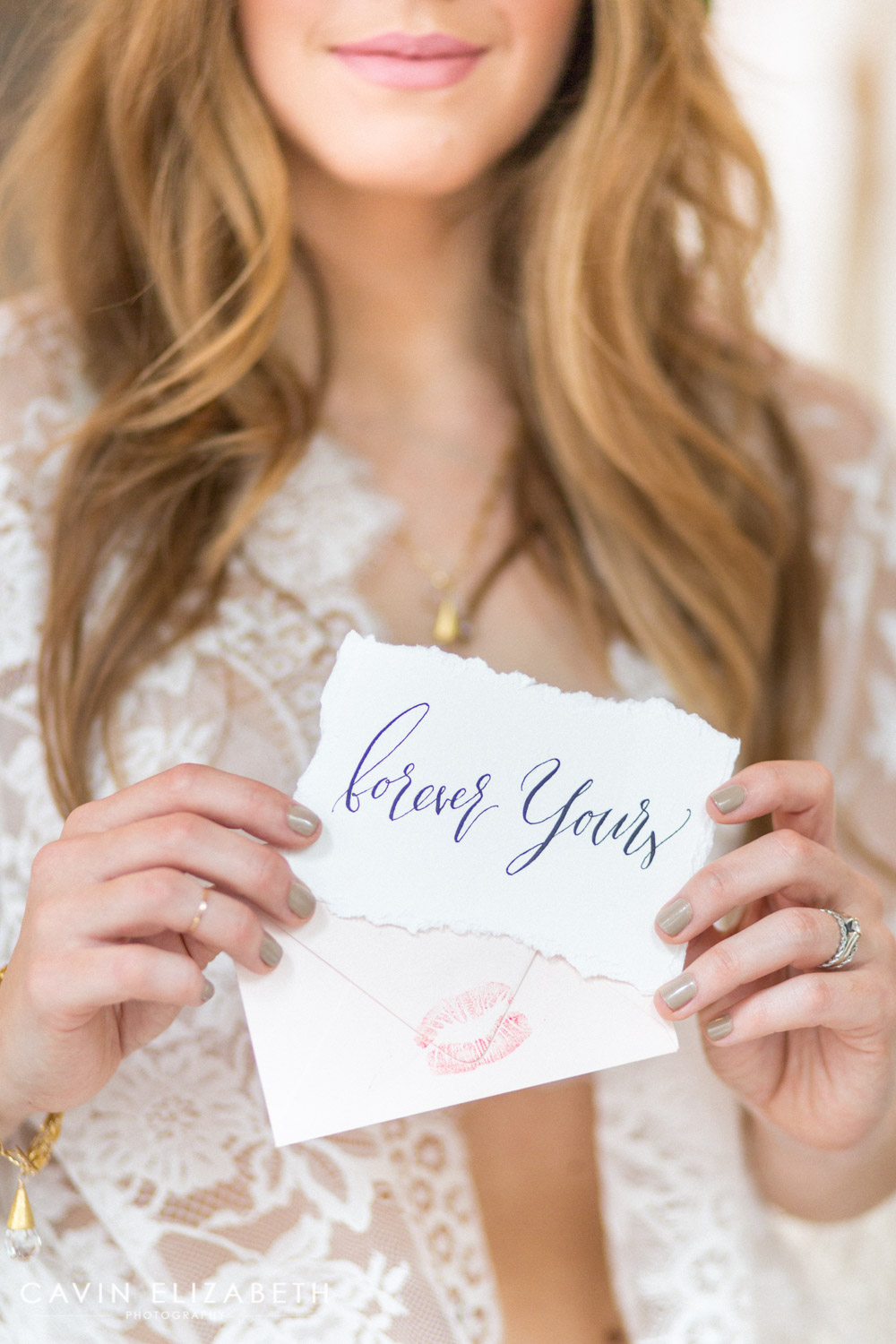 fourthings paper hand lettering calligraphy for a boudoir shoot, cute notes for your future husband