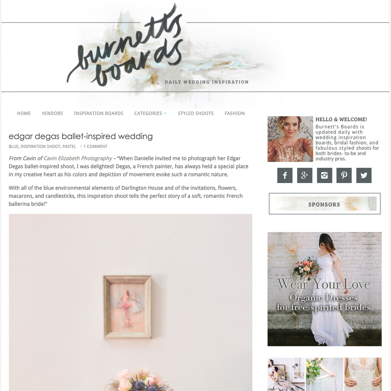 La Jolla wedding inspiration featured on Burnett's Boards