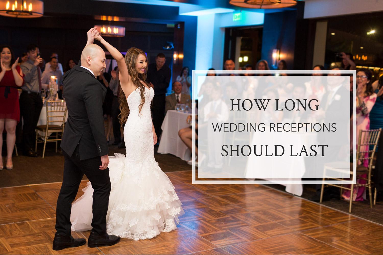 how long wedding receptions should last