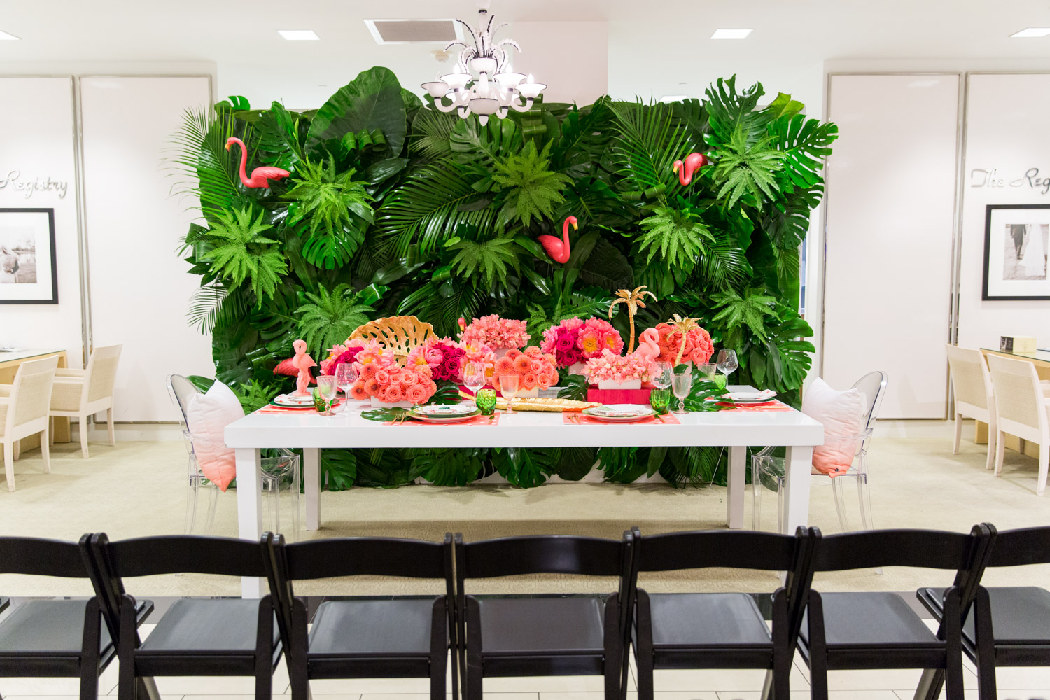 Luxury Flamingo Themed Tablescape with Bloom Box Details Details and Cavin Elizabeth Photography