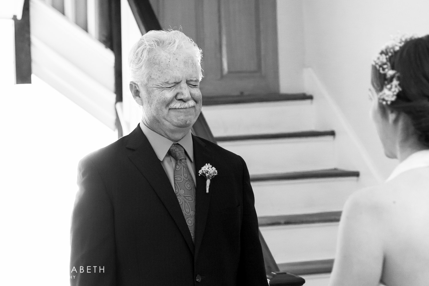 father daughter first look, Cavin Elizabeth Photography