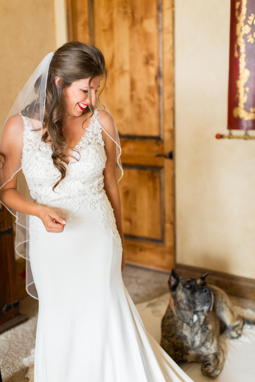 Bride getting ready for her Desert Ridge Estate wedding in Palm Desert, Cavin Elizabeth Photography