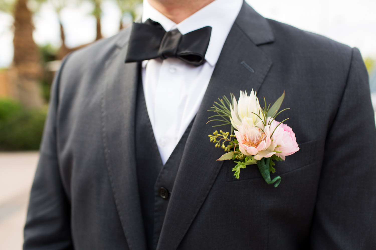 Pink and white and green boutonniere, Cavin Elizabeth Photography