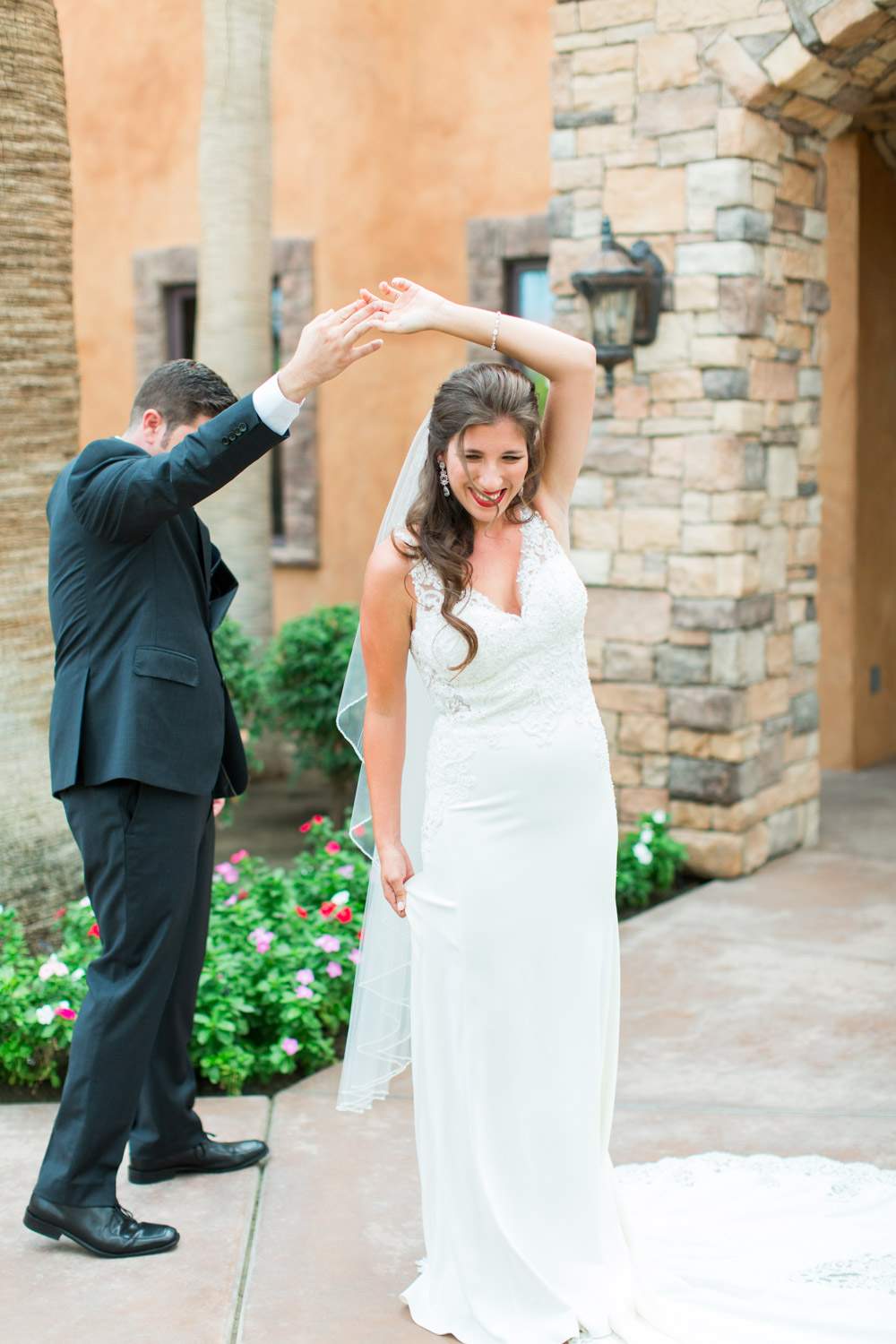 First look at Desert Ridge Estate with the bride and groom, Cavin Elizabeth Photography