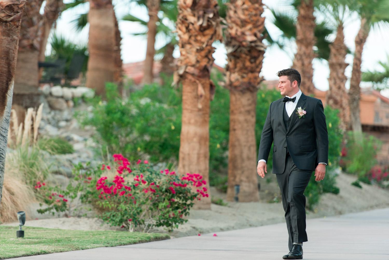 Groom walking down aisle, Wedding ceremony at Desert Ridge Estate, Cavin Elizabeth Photography