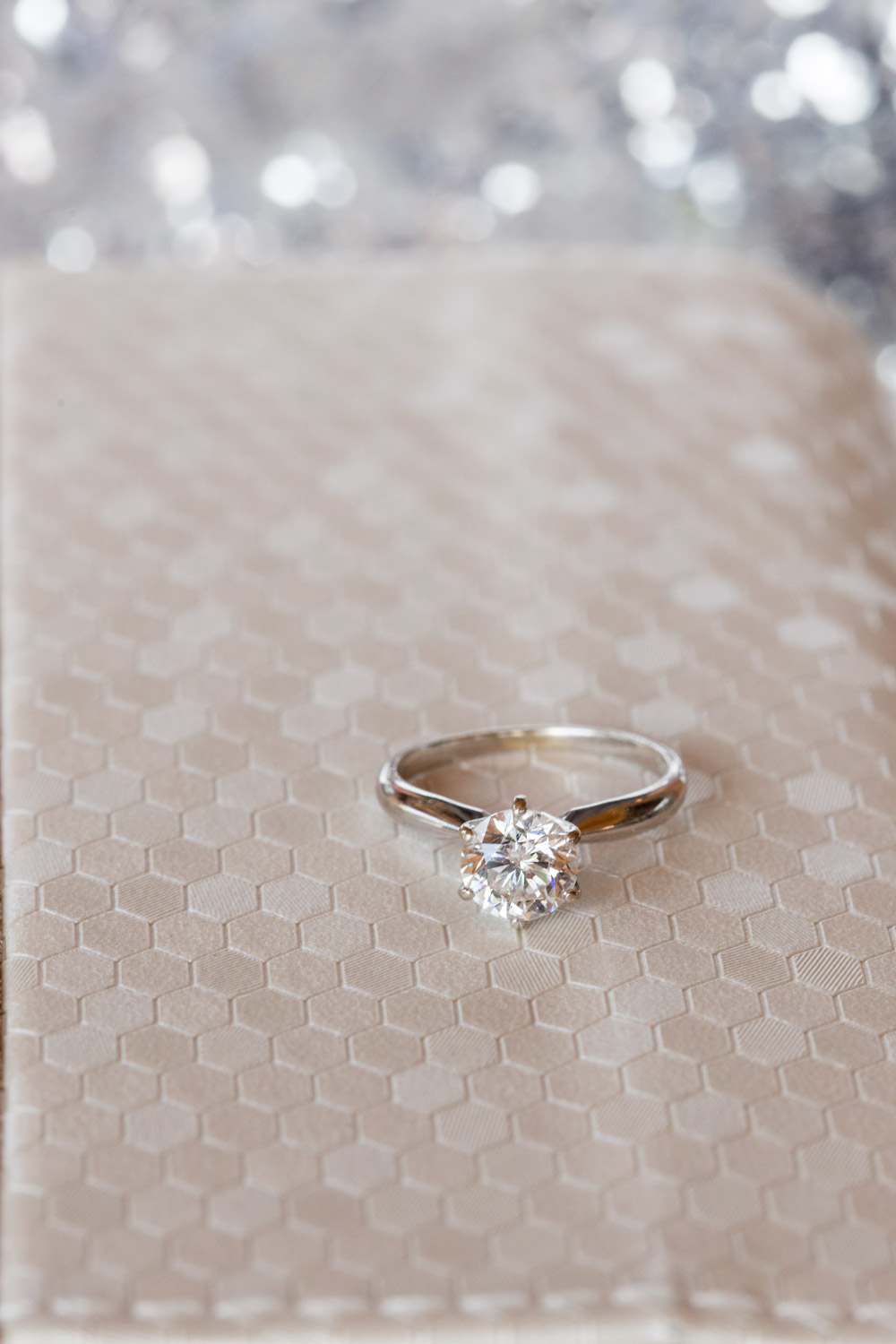 Solitaire diamond engagement ring in round, Cavin Elizabeth Photography