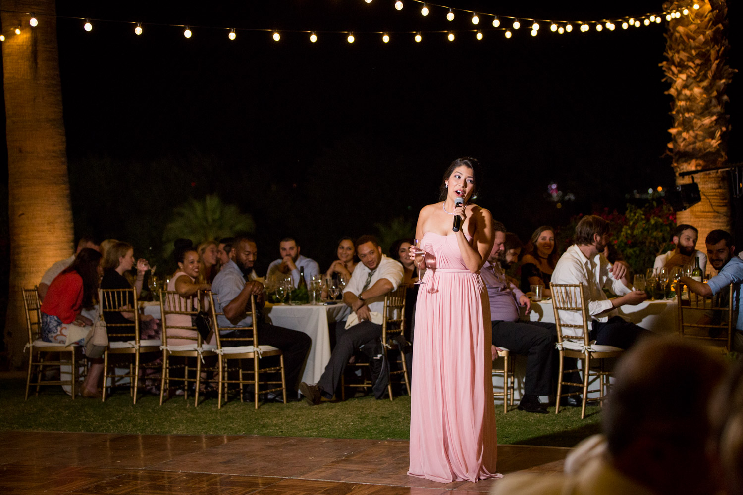 Maid of honor giving a toast, Cavin Elizabeth Photography