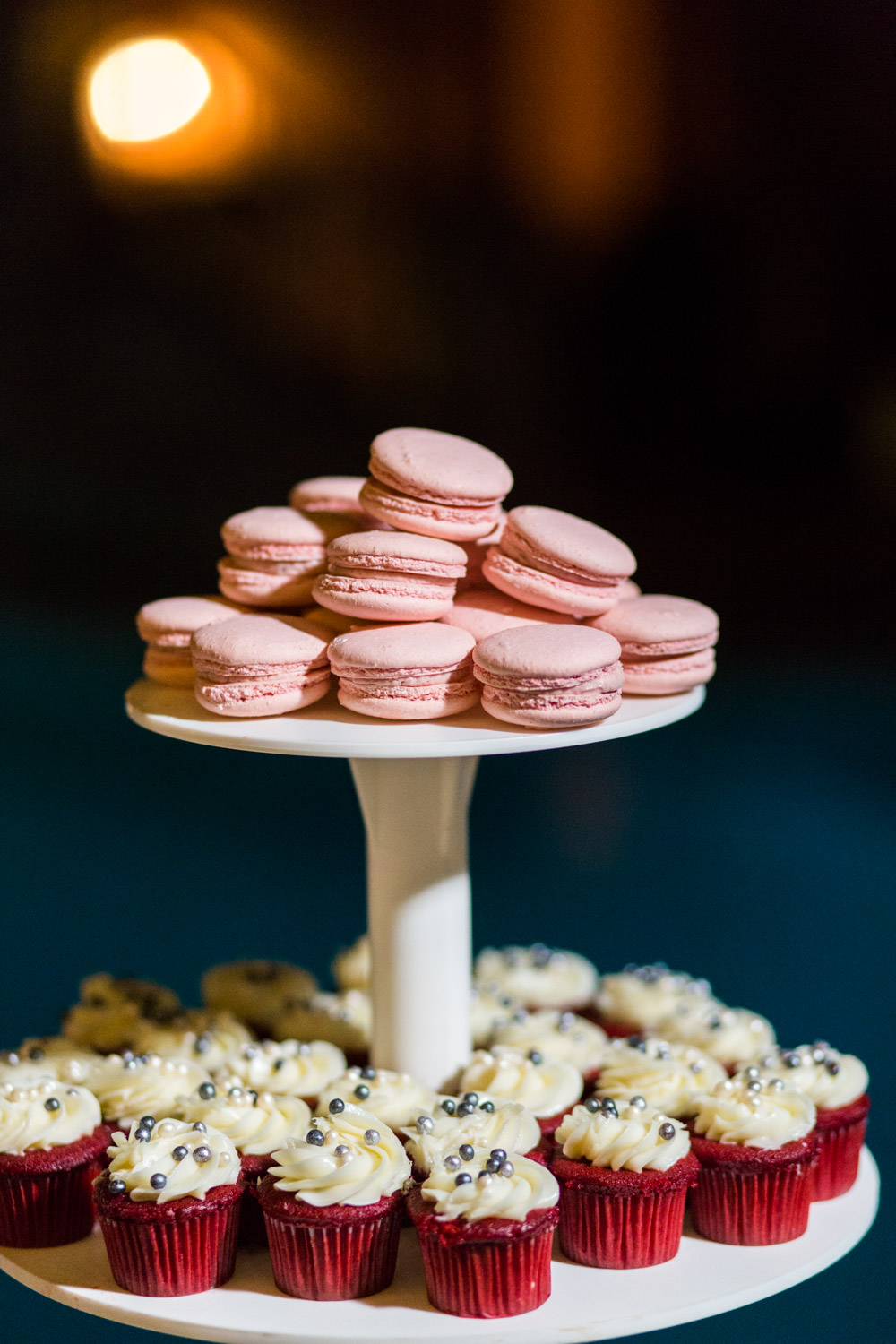 Wedding desserts and pink blush macarons, Cavin Elizabeth Photography