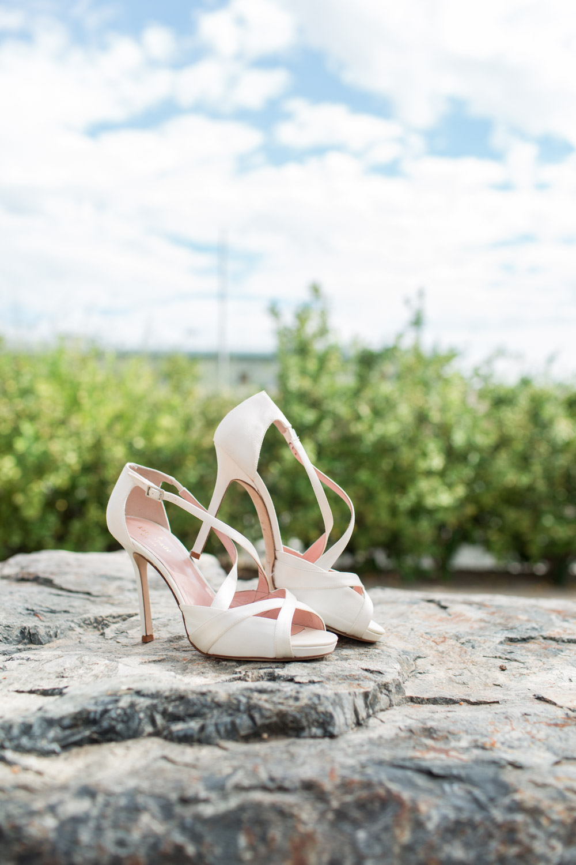 White Kate Spade wedding shoes, Desert Ridge Estate wedding in Palm Desert, Cavin Elizabeth Photography