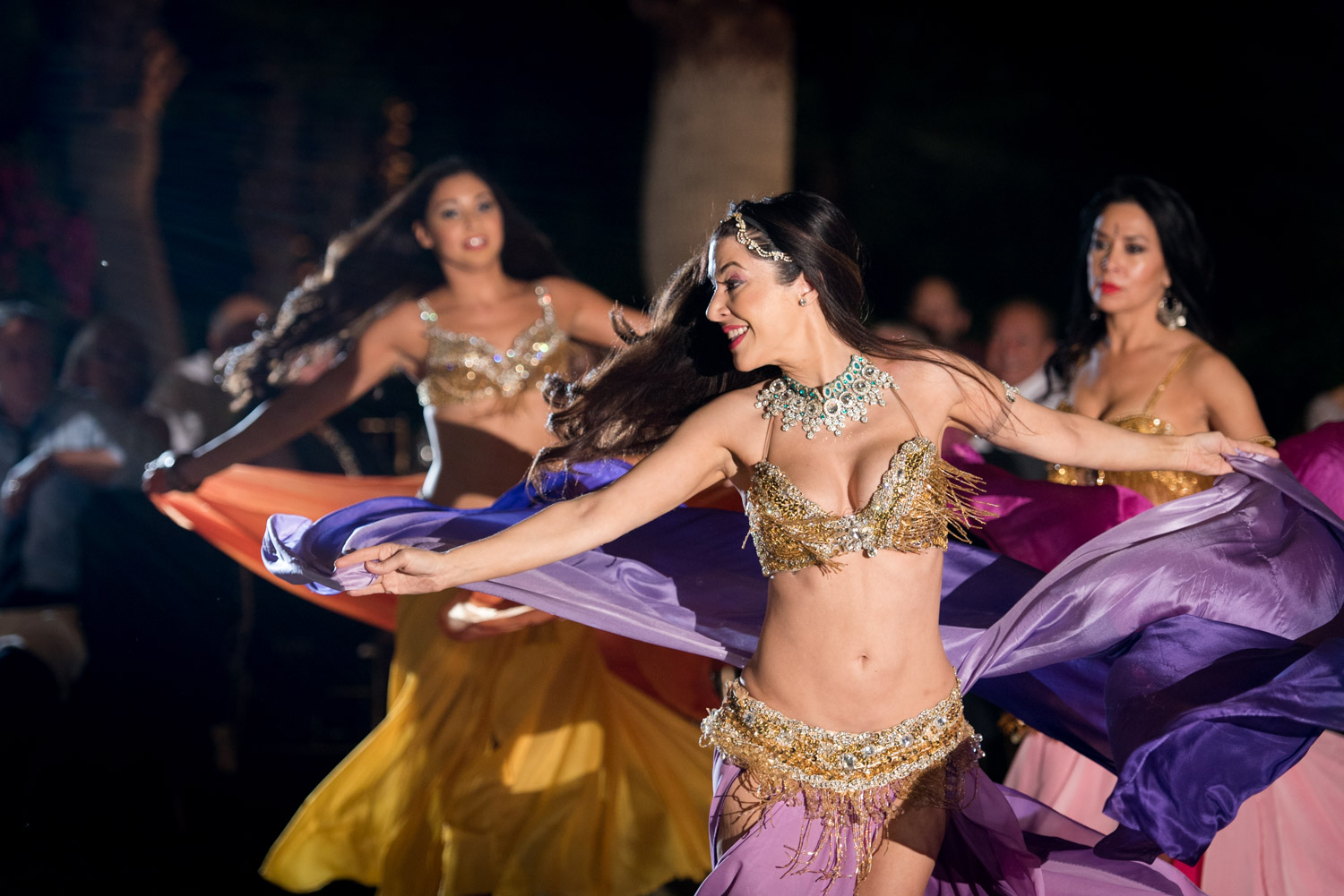 Samba and belly dancers performing at a Palm Desert wedding, Cavin Elizabeth Photography