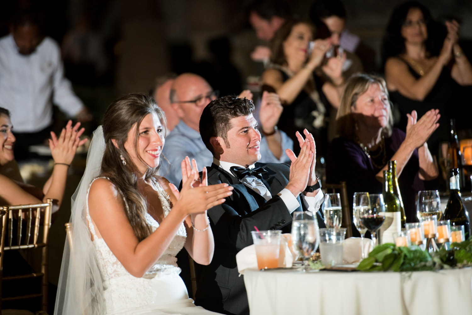 Bride and groom react to belly dancer at their wedding, Cavin Elizabeth Photography