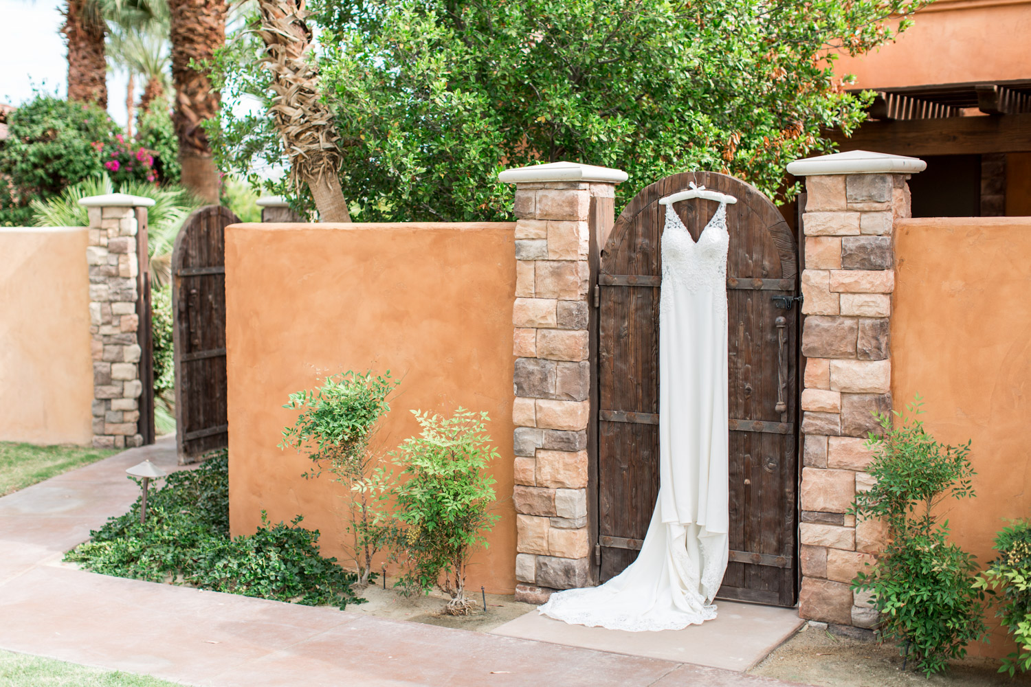 Wedding gown sleeveless with lace and beading, fitted wedding gown ideas, Desert Ridge Estate wedding in Palm Desert, Cavin Elizabeth Photography