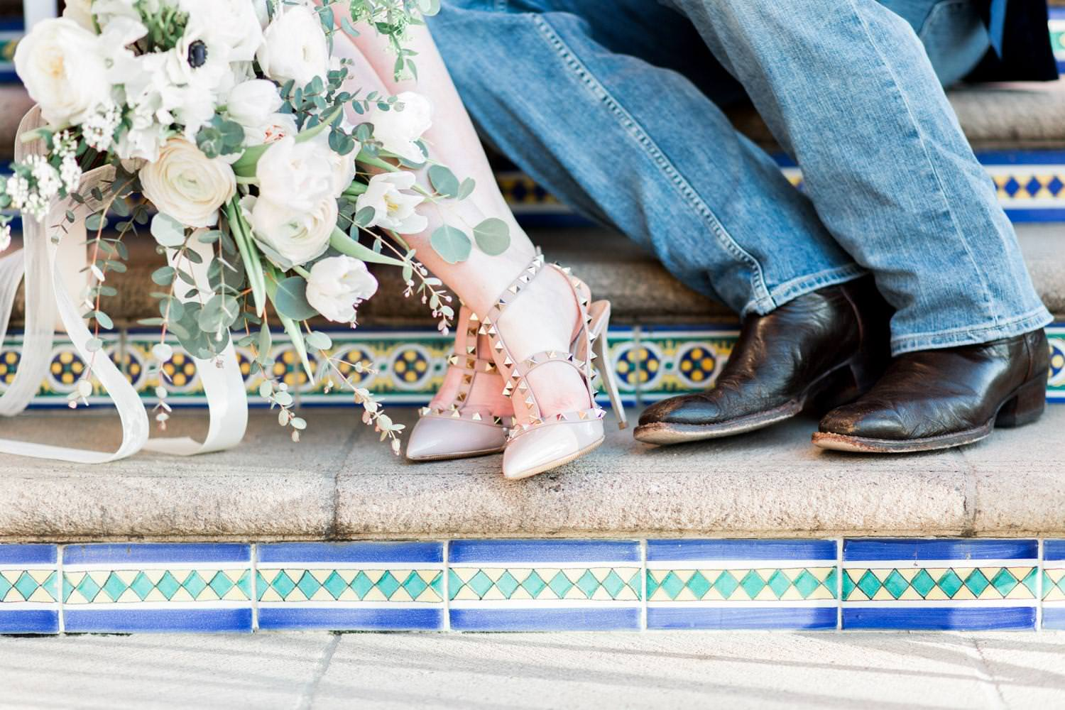 Engagement session clothing ideas with Valentino rockstuds, Formal La Valencia Anniversary Photos in La Jolla, Cavin Elizabeth Photography