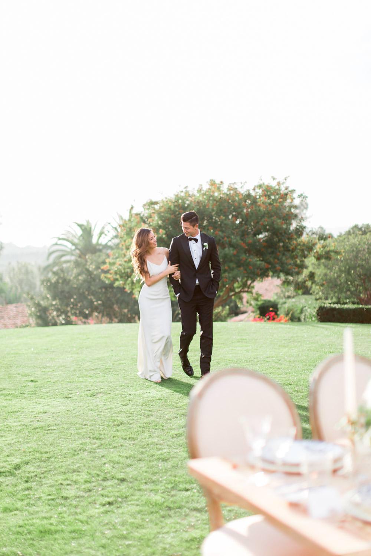 Rancho Valencia Wedding Photography by Cavin Elizabeth, bride and groom portrait