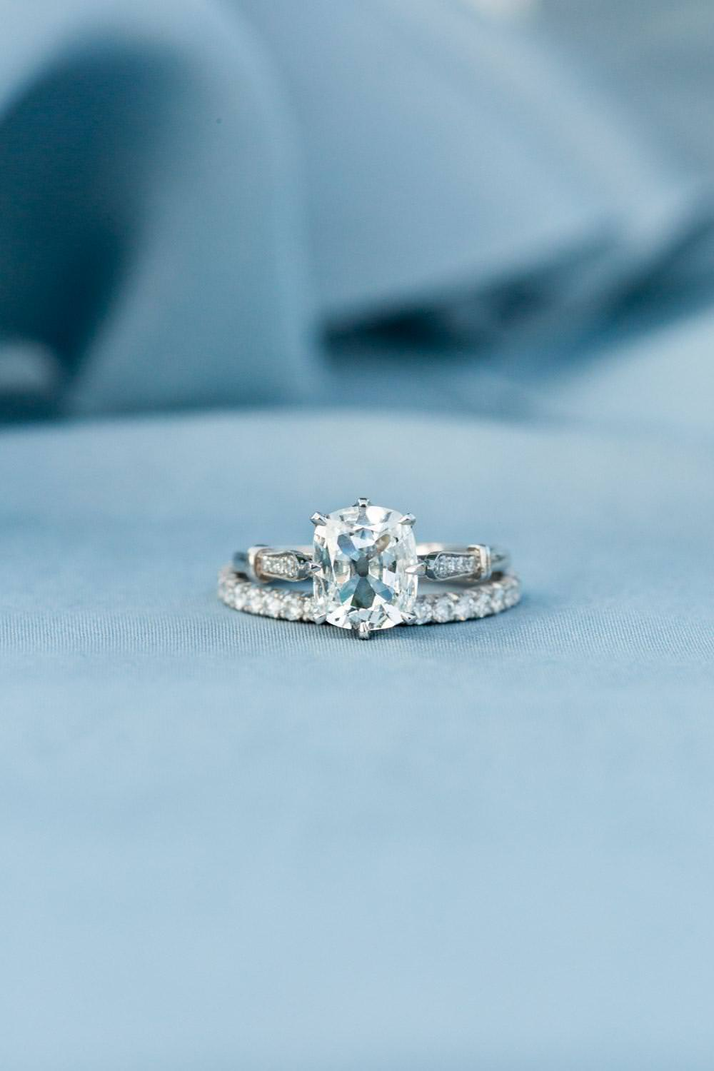 Rancho Valencia Wedding Photography by Cavin Elizabeth, large solitaire Trumpet and Horn diamond engagement ring
