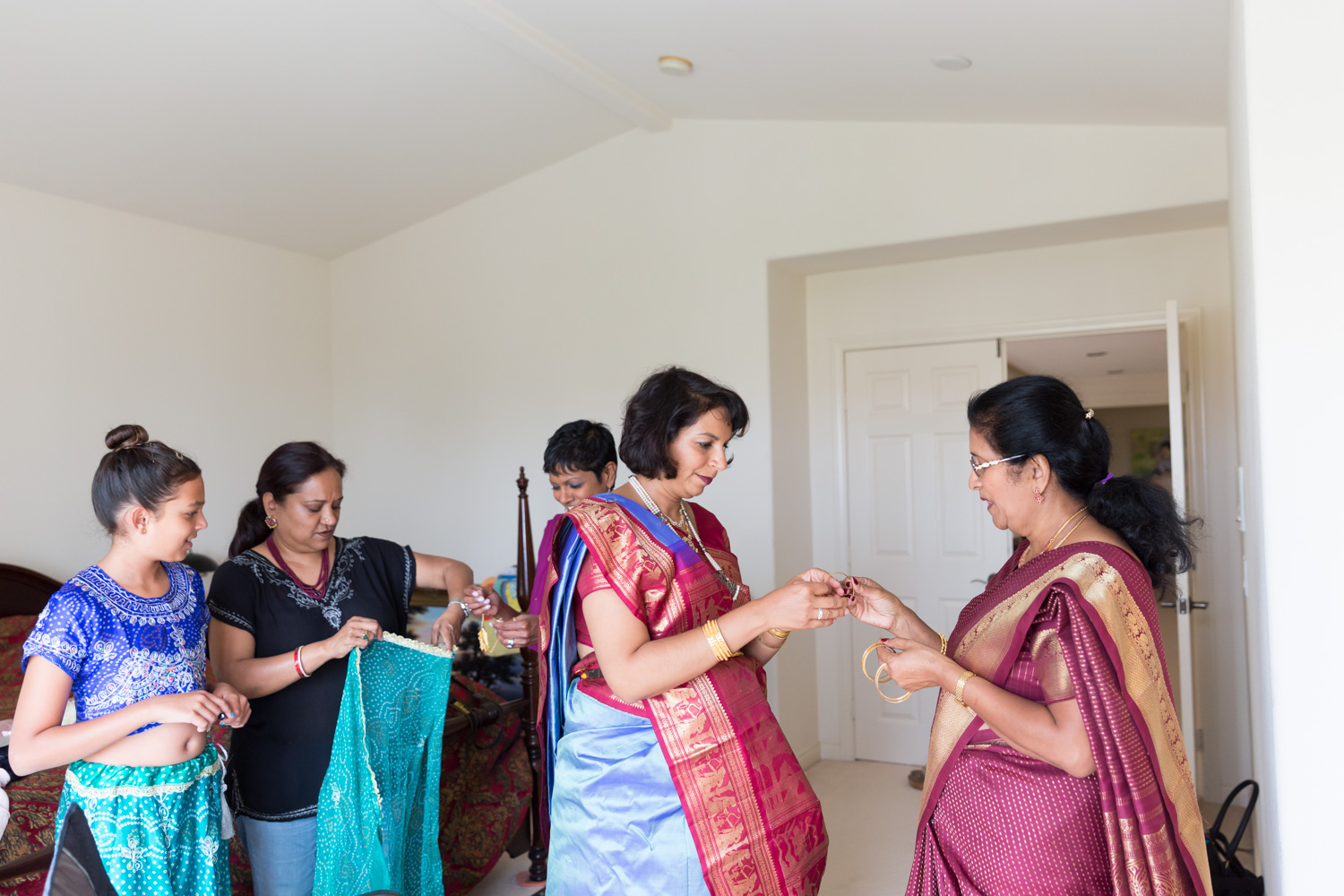 Beautiful Candid Photojournalistic Photo Of A Family Getting Ready For A Traditional  Baby Shower, Bangle Ceremony