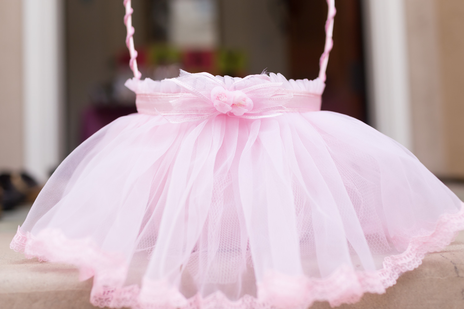 Cute Baskets For Baby Shower, Pink Tulle Ballerina Skirt Decorations For A  Girl Baby Shower ...