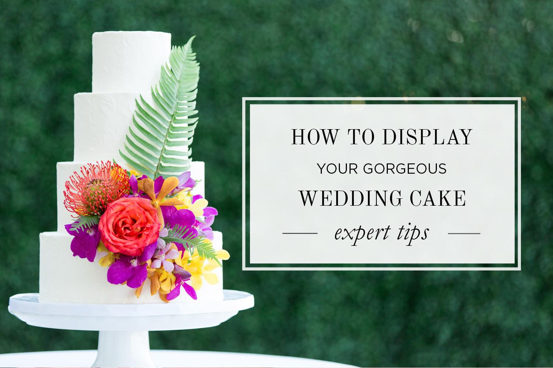 Where Should I Display My Wedding Cake   Tips