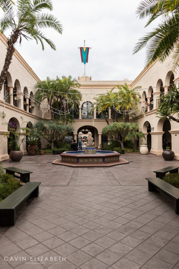 The Prado at Balboa Park fountain courtyard, the Prado wedding reception venue, the prado at balboa park wedding venue