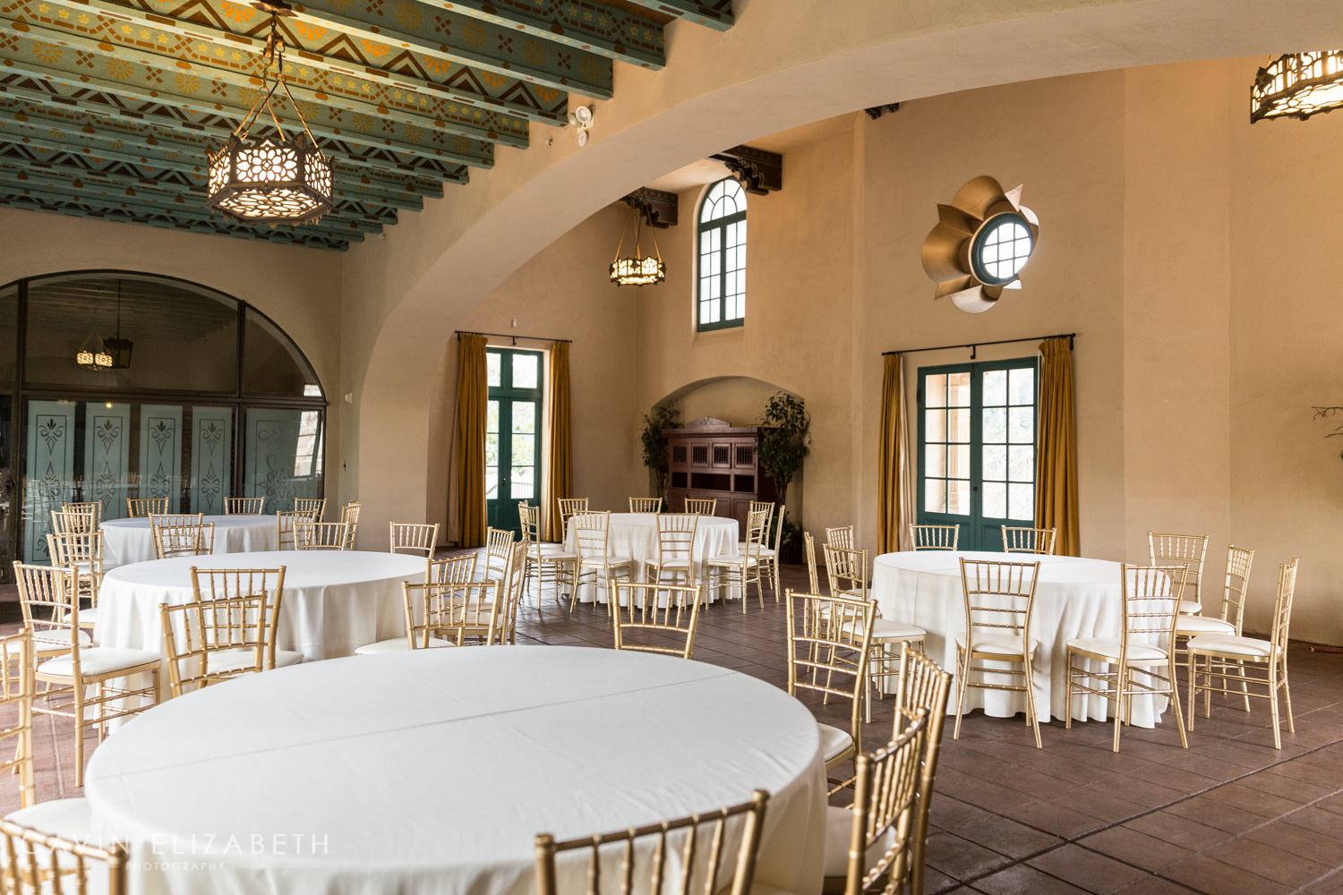 The Loggia at the Prado at Balboa Park wedding venue, Loggia reception room at the Prado