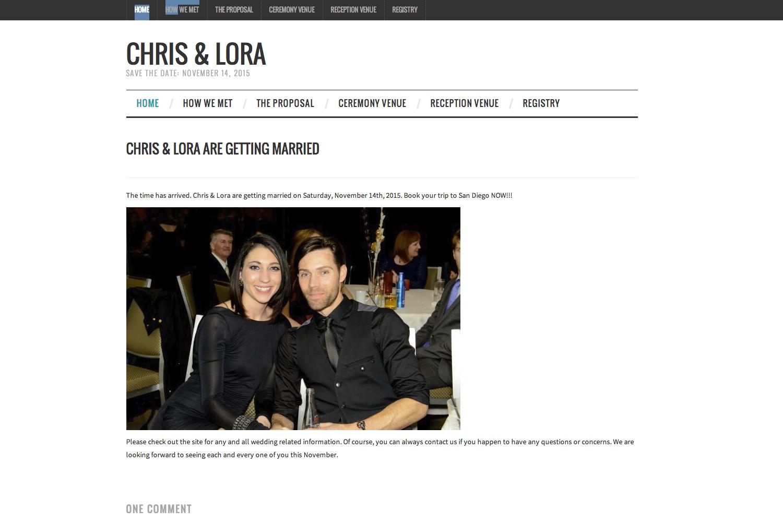 wordpress wedding website