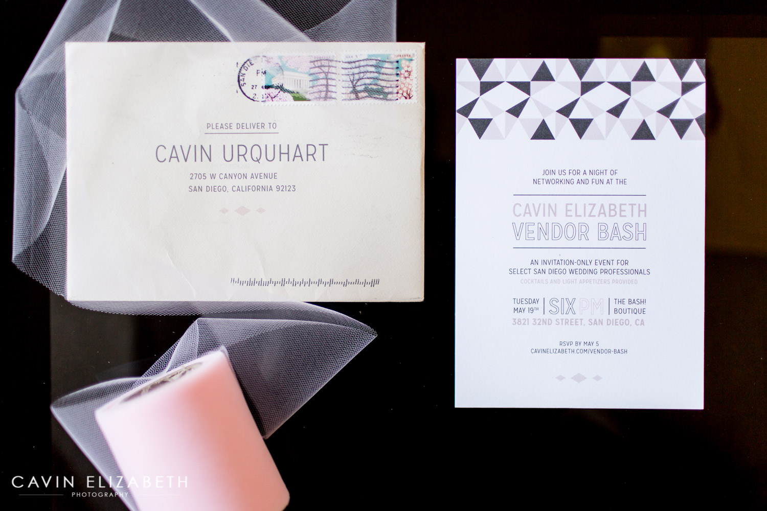 Cavin Elizabeth Vendor Bash Spring 2015 Invitation Made By Sable And Snow, San  Diego Wedding