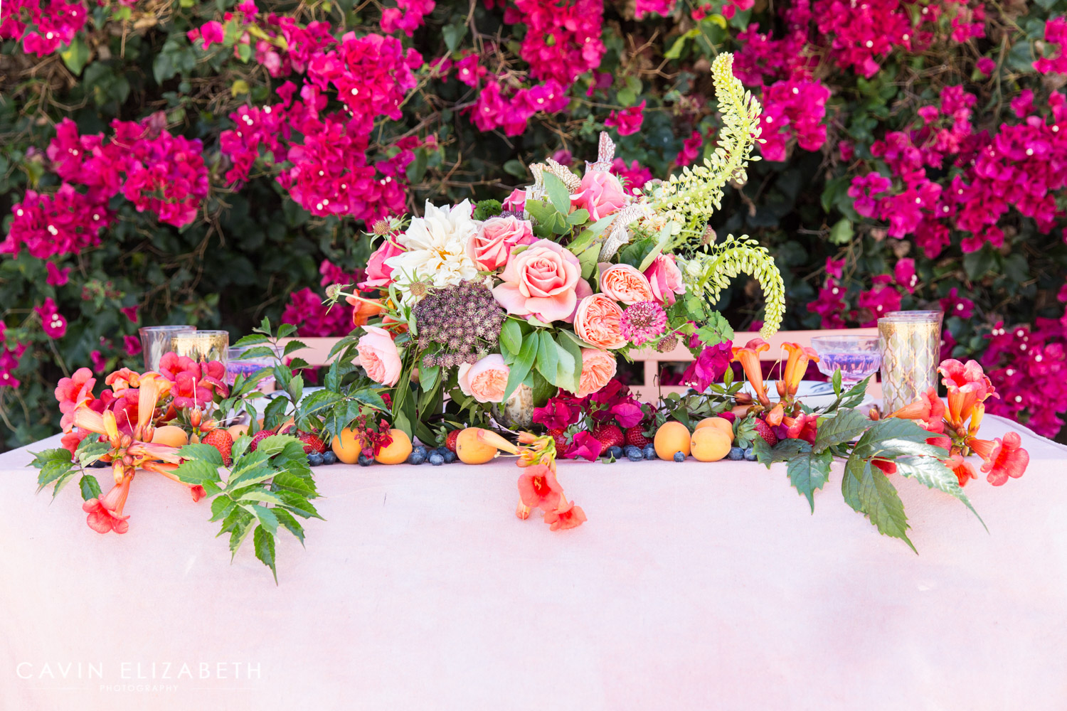 Fruit Inspired Pink Wedding Inspiration In San Diego
