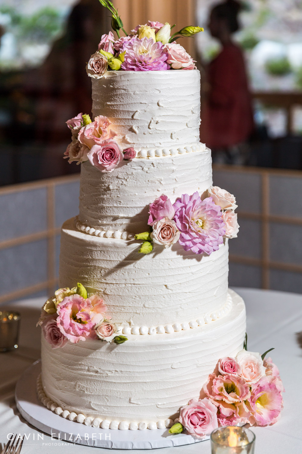 wedding cakes with pink and purple flowers japanese friendship garden wedding 26083