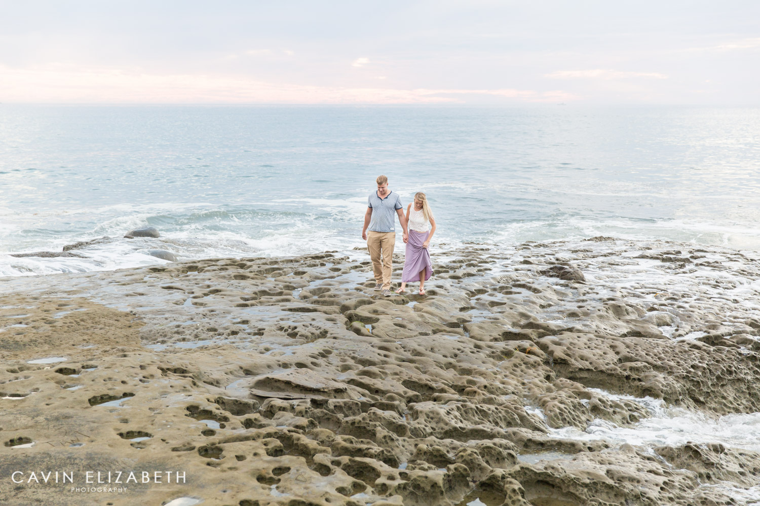 Sunset cliffs anniversary photography session