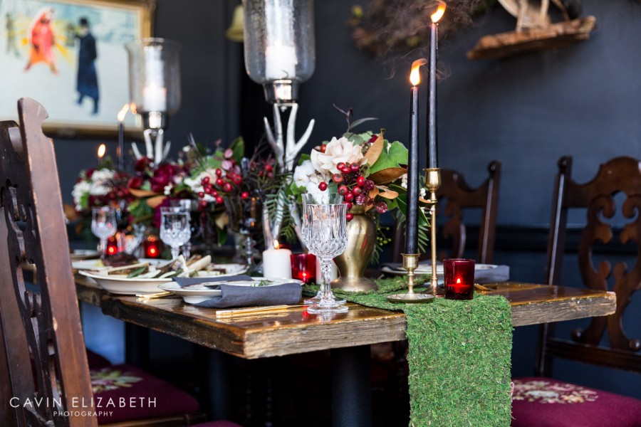 Dark And Moody Wedding Inspiration At Lionu0027s Share In San Diego, Blooms By  Breesa Lee