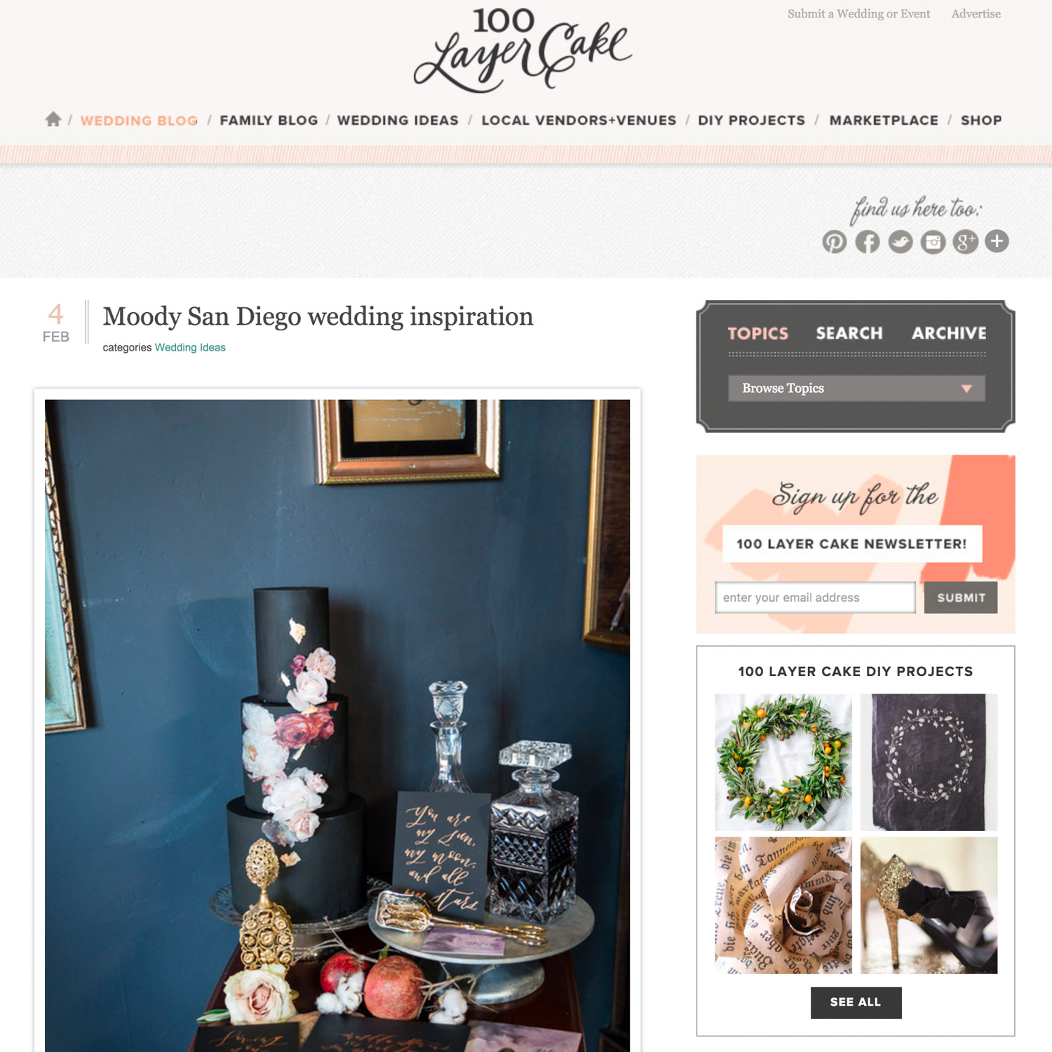 wedding photographer featured on 100 Layer Cake for a moody Lion's Share Wedding