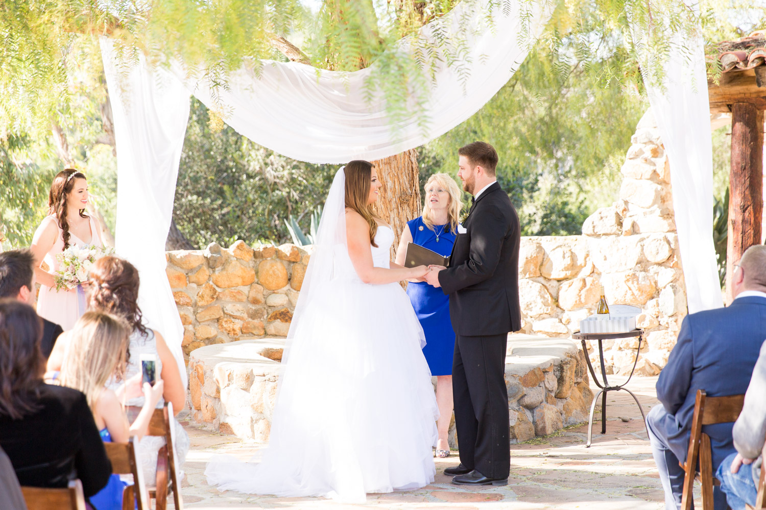 Bride and groom at the altar for their Leo Carrillo wedding in San Diego