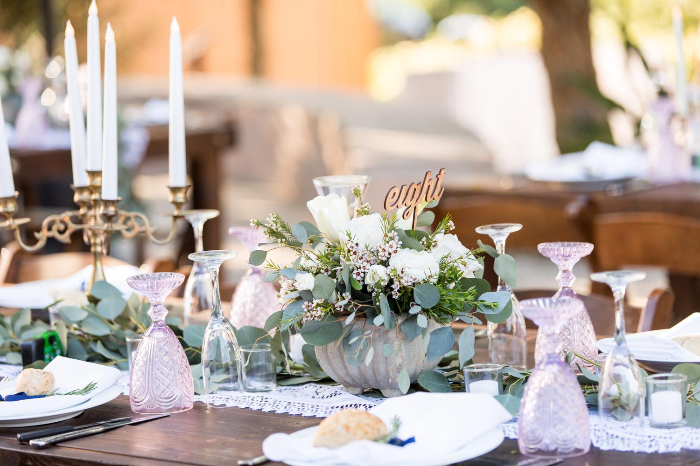 Blush green white rustic elegant wedding in San Diego