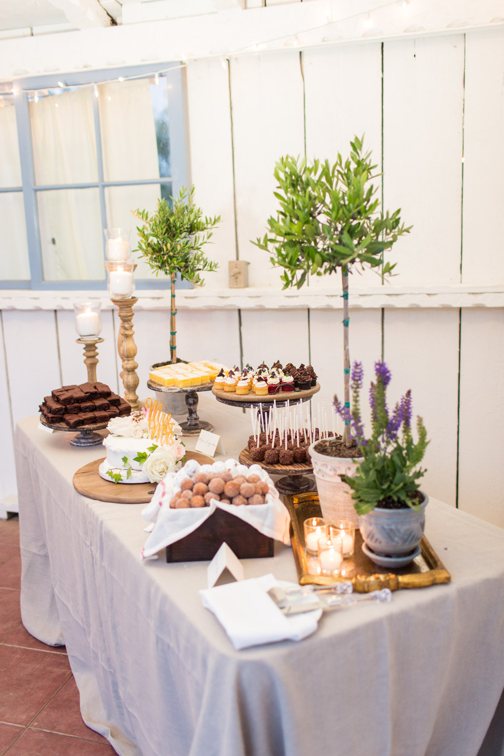 Wedding dessert by Personal Touch Dining at Leo Carrillo