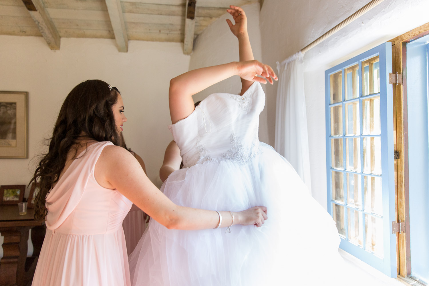 Bride getting ready for her Leo Carrillo wedding
