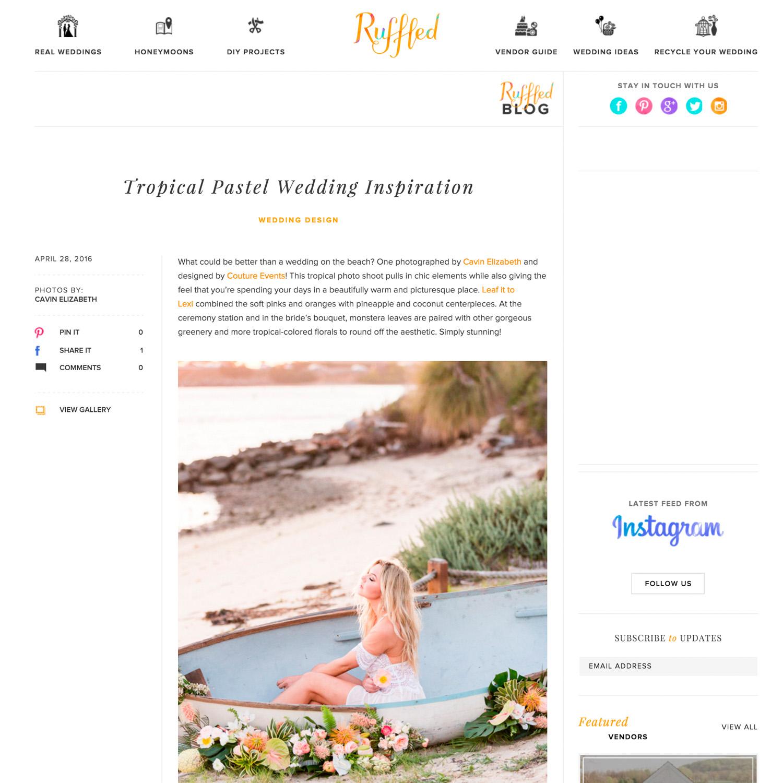 San Diego wedding photographer featured on Ruffled press blog