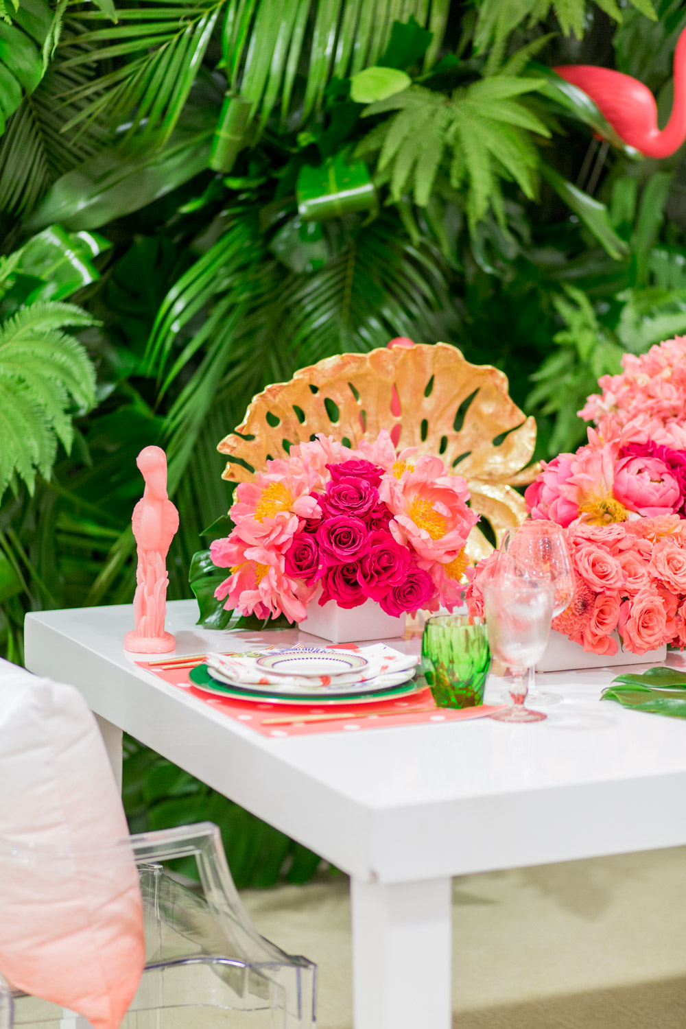 Luxury Flamingo Themed Tablescape Details Details
