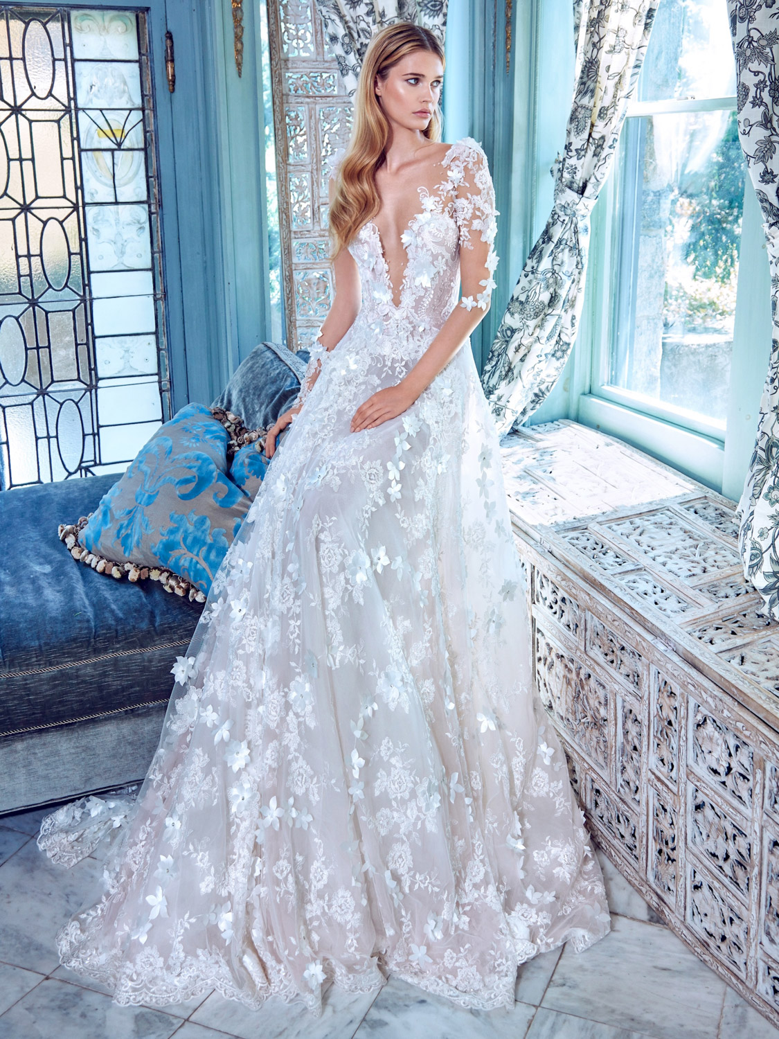4 most beautiful wedding gown designers for chic brides most beautiful wedding gown designers galia lahav arabella junglespirit Gallery