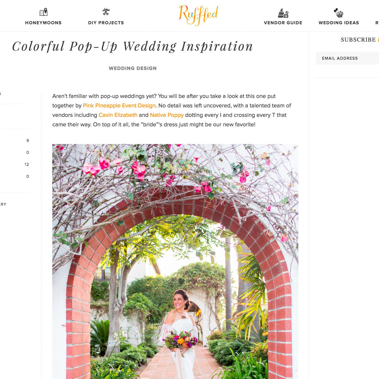San Diego pop up wedding on Ruffled