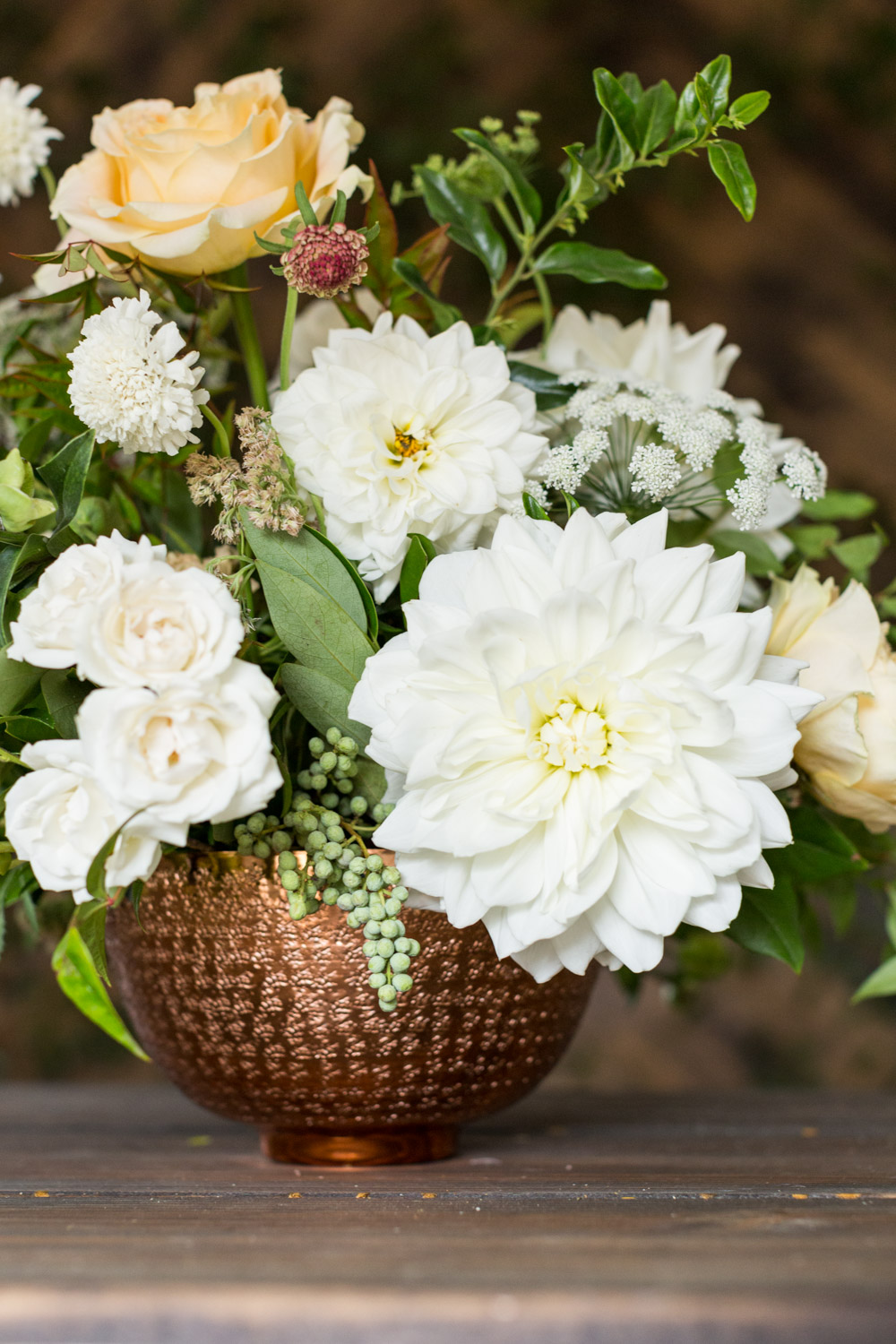 Compass floral wedding centerpiece sizes variations