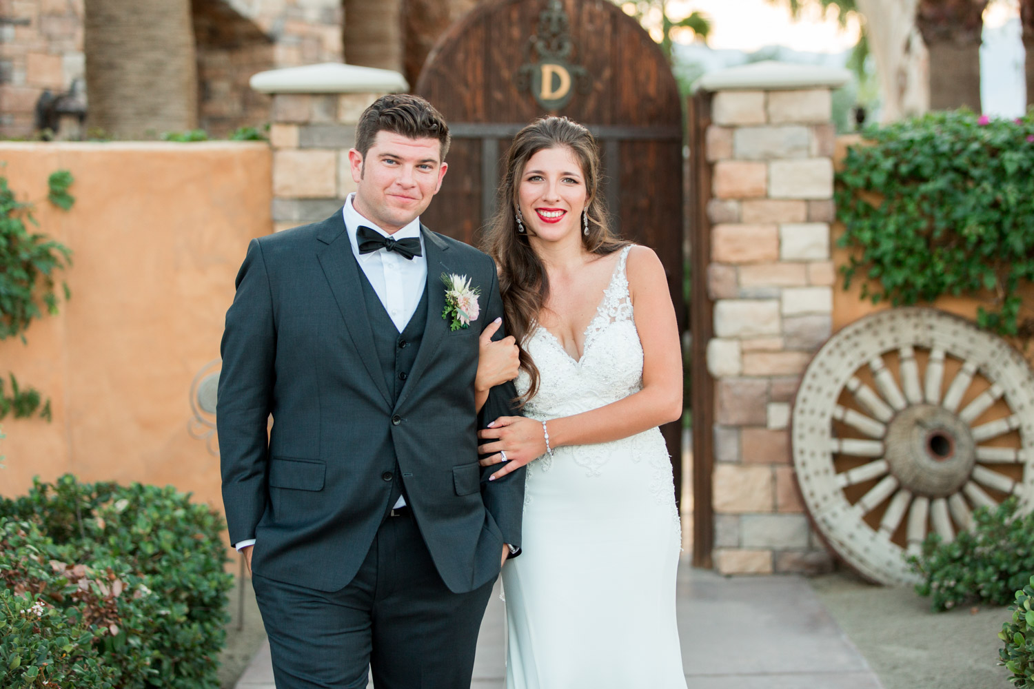 Bride and groom portrait at Desert Ridge Estate in Palm Springs, Cavin Elizabeth Photography