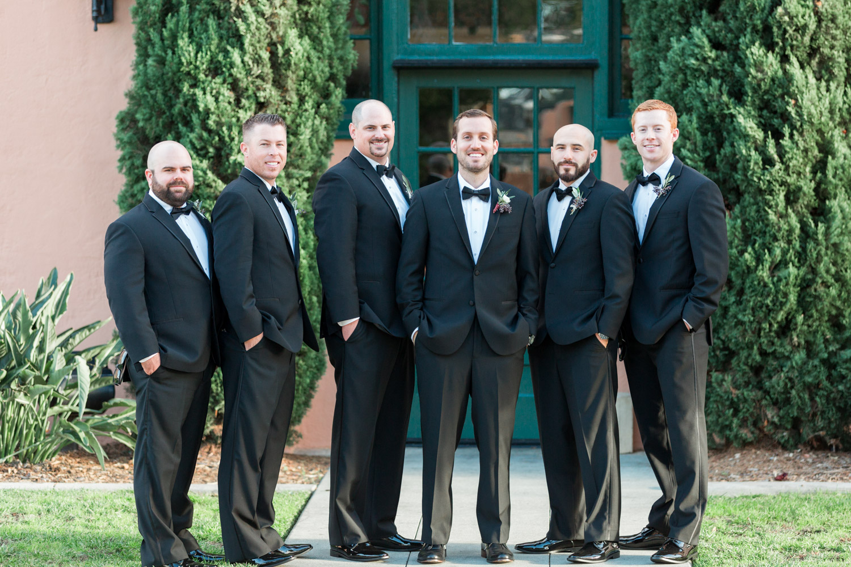 Groomsman portraits at a BRICK wedding in San Diego, Cavin Elizabeth Photography