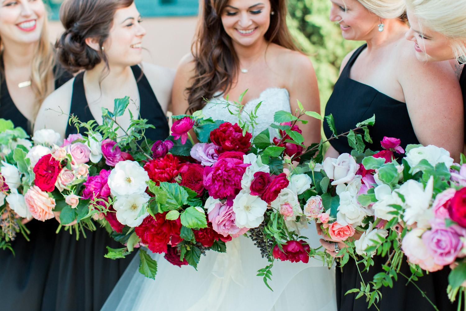 Bridesmaid portrait at a BRICK wedding in San Diego with Bloom Babes bouquets, Cavin Elizabeth Photography