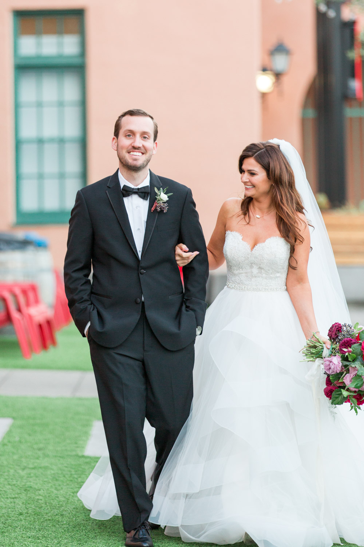 Bride and groom luxury wedding portrait in San Diego at a BRICK wedding, Cavin Elizabeth Photography