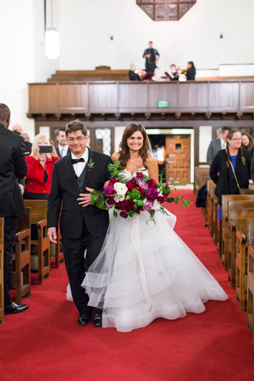 The North Chapel wedding ceremony in San DiegoBride and groom luxury wedding portrait in San Diego at a BRICK wedding, Cavin Elizabeth Photography