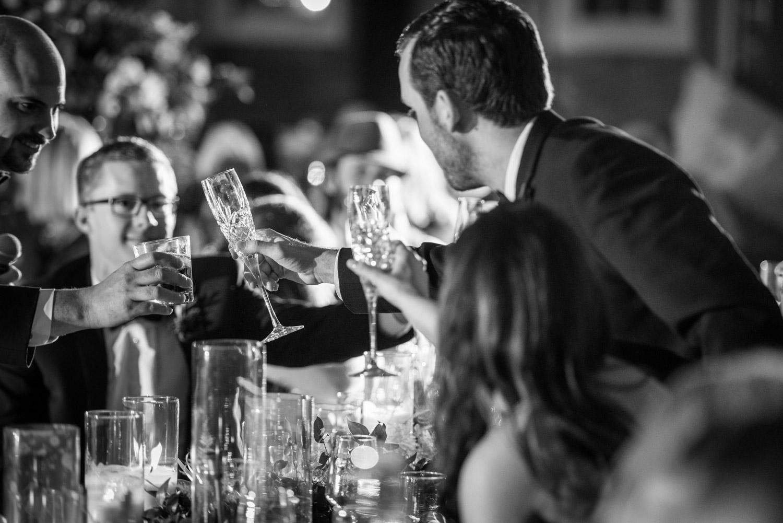 Wedding toasts at Brick in San Diego, Cavin ELizabeth Photography