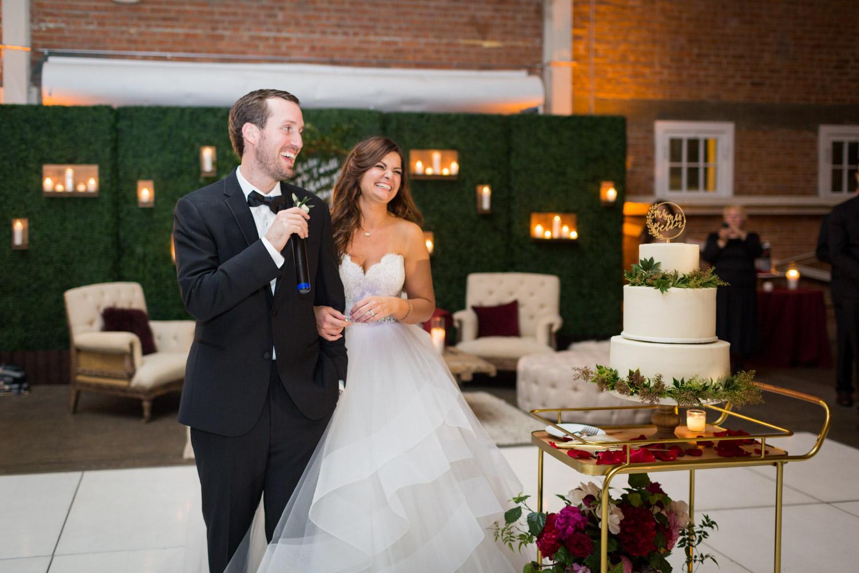 Bride and groom thank you speech at a luxury high end wedding in San Diego, Cavin ELizabeth Photography