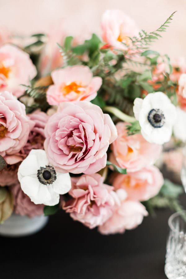 Pink rose, Black pink and gold wedding inspiration or rehearsal dinner inspiration, Cavin Elizabeth and Amorology