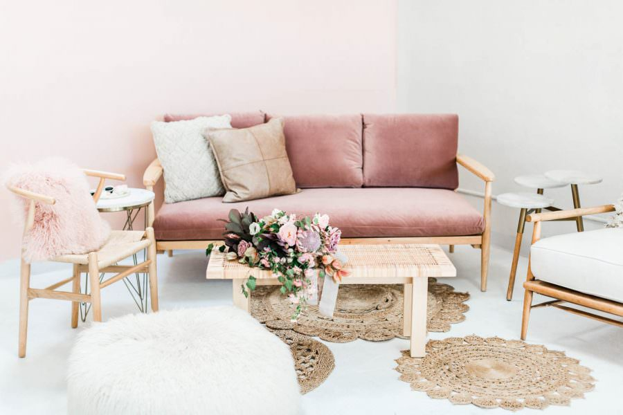 Pink and white wedding lounge for an after party or cocktail hour, Cavin Elizabeth Photography and Amorology