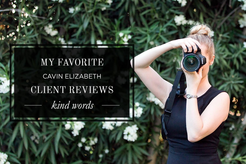 Favorite Cavin Elizabeth Photography Reviews